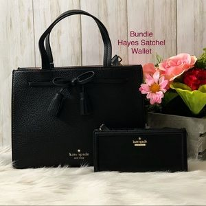 kate spade Bags - NWT Bundle Small Hayes Satcheland Wallet